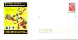 PAP MONTARGIS (LOIRET) ; CYCLISME TOUR DE FRANCE 2010 Illustration Style BD - Entiers Postaux