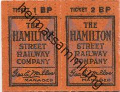 Kanada - Canada - HSR - Hamilton Street Railway - Fahrkarte - Chemins De Fer