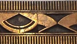 ANCIEN TAMPON FRISE MATRISE D'IMPRIMERIE  9,5 X 1,5 CM - Creative Hobbies