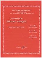 PARTITION - Menuet Antique Pour Trompette Et Piano - Non Classés