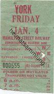 Kanada - Canada - HSR - Hamilton Street Railway - York - Fahrschein - Chemins De Fer