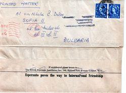 Great Britain/ England  Traveled To Bulgaria (1961) Printed Matter With Esperanto - Esperanto