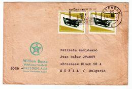 Germany /DDR Traveled To Bulgaria (1966) Printed Matter With Esperanto - Esperanto