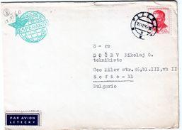 Cover Czech Republic Traveled To Bulgaria (1960) Printed Matter With Esperanto - Esperanto