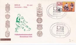 Germany Cover 1974 FIFA Soccer World Cup Football - Berlin Australia-Chile (DD4-43) - Coppa Del Mondo