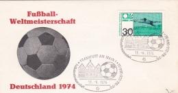 Germany Cover 1974 FIFA Soccer World Cup Football - Frankfurt Am Main  (DD4-43) - Coppa Del Mondo