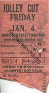 Kanada - Canada - HSR - Hamilton Street Railway - Jolley Cut - Fahrschein - Chemins De Fer