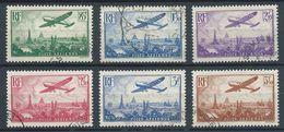 FRANCE 1936 . Série Poste Aérienne N°s 8 à 13 . Oblitérés . - 1927-1959 Oblitérés