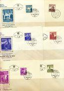 Österreich-   Mi Nr.  1044 - 1055   FDC  1958 - 1960 ,  Freimarken: Bauwerke  2 Werte Fehlen  1044+1049 - FDC