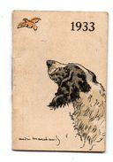 Mini Calendrier De Poche  André Marchand 1933 - Petit Format : 1921-40