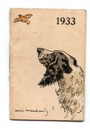 Mini Calendrier De Poche  André Marchand 1933 - Calendarios