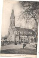 ---- 33 -----  CAPTIEUX L'église - Sortie De La Messe  écrite TTB - France