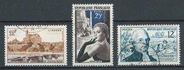 FRANCE 1955 . N°s 1019 , 1020 Et 1021 . Oblitérés. - France