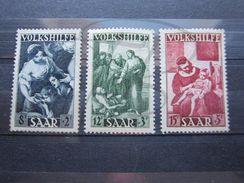 VEND TIMBRES DE SARRE N° 263 - 265 , NEUFS SANS GOMME !!! - 1947-56 Protectorate