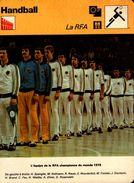 LA RFA..l'equipe De La RFA Championne Du Monde 1978...VOIR DOS....FICHE 16/12 CM - Handbal