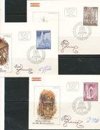 Österreich  -  FDC   1977    Mi Nr.  1544 - 1546    25. Jahrestag Der Wiedereröffnung Des Stephansdomes Mit Unterschrift - FDC