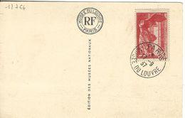 12764  N° 355 SAMOTHRACE  Oblitération : MUSEE Du LOUVRE - 1937 - Briefe U. Dokumente