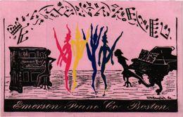 8 Trade Card Music Pub  C1888  Piano Emerson Piano Boston Chocolat Besnierc1890   Lithography - Other