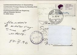 Postcard  Liechtenstein Via Bulgaria 1996.nice Stamp Motive - 1996 EUROPA Stamps - Famous Women - Liechtenstein