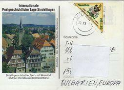 Postcard  Namibia Via Bulgaria 1997.nice Stamp Motive - 1997 The 50th Anniversary Of Namibian Veterinary Association - Namibie (1990- ...)