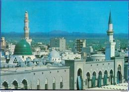 Green Dome In The Prophet's Mosque Sherif - Saudi Arabia