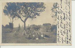 AK Ruhepause Mit Feldpostwagen - Weltkrieg 1914-18