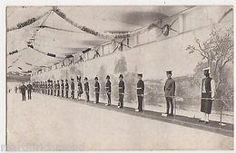 Imperial Services Exhibition, Life Size Figures Regimental Uniform Postcard B543 - Expositions