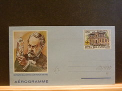 69/979  AEROGRAMME  XX PASTEUR - Louis Pasteur