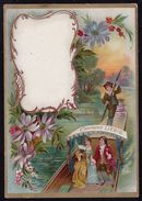 RARE !! LIEBIG 1895 Sang. Cartoncini Segna - Posto Nr. 11a French - Gita In Gondola - - Liebig