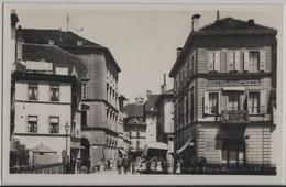 Moudon - Pont St. Eloi Et Maison Hotel De La Poste - Animee - Photo: Societe Graphique - VD Vaud