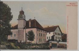 Moudon - CHateau Rochefort - Litho Guggenheim No. 4828 - VD Vaud