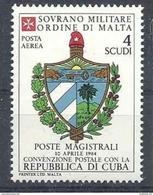 1984 ORDRE MALTE PA 12 ** Armoirie Cuba , Issu De Paire - Malte (Ordre De)