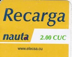 TARJETA DE CUBA DE RECARGA DE NAUTA DE 2 CUC (ETECSA) - Cuba