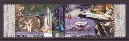 NAGORNO MOUNTAINOUS KARABAKH ARMENIA 2011 SHUTTLE SPACE USA SET OF 2 MNH - Armenia