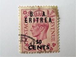 Timbre B. A. ERITREA 50 Cents - Erythrée