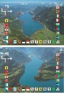 2 Entiers Postaux 1991 * Voie Suisse * Oblitéré Du 1er Jour - Interi Postali