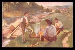 969 Skuteczky - Tutajosok A Garam Mellol / Postcard Circulated, 2 Scans - Pittura & Quadri