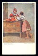 Othmar Ruzicka: Slowakische Kinder / Wiener Kunst Nr. 1754 / Postcard Circulated, 2 Scans - Malerei & Gemälde