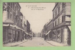 MONTCEAU LES MINES : Rue De La République, Au Chat Noir. 2 Scans. Edition BF Au Pays Minier - Montceau Les Mines