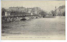 CPA Paris Animée # 74 Inondations De Janvier 1910 Le Pont Des Invalides - La Crecida Del Sena De 1910