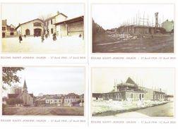 Lot 10 Cartes Modernes - 21 - DIJON - Côte D´Or - Eglise SAINT-JOSEPH 1910/2010 - Grue Soldats écoliers - Dijon