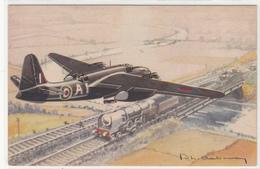 AVION BOSTON  -ILLUSTRATEUR- 2scans- TBE - 1939-1945: 2ème Guerre