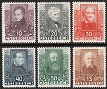 AUSTRIA/OOSTENRIJK  1931  Mi. 524/529, Scott B.93/98  MNH - 1918-1945 1. Republik