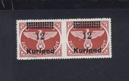 Dt. Reich Kurland Paar Postfrisch Geprüft - Ungebraucht