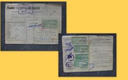 LINIERS Permis Chasse Barillet Narcisse, Timbres Fiscaux Forte Cote1956 à 60 ; Ref 191 VP 34 - Revenue Stamps