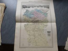 Algérie Province Du Département CONSTANTINE, Vers 1875, Carte ORIGINALE, Ref 843 G 24 - Cartes Géographiques