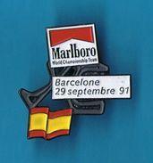 PIN´S //  ** CIRCUIT ** F1 ** BARCELONE ** 29 SEPTEMBRE 91 ** MARLBORO ** - Car Racing - F1