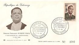 Timbre - Afrique - Bénin - Dahomey - PREMIER JOUR - N° 2797 - 1er An. De L´Indépendance - PORTO-NOVO - 1961 - - Bénin – Dahomey (1960-...)