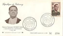 Timbre - Afrique - Bénin - Dahomey - PREMIER JOUR - N° 2798 - 1er An. De L´Indépendance - PORTO-NOVO - 1961 - - Bénin – Dahomey (1960-...)