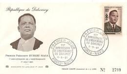 Timbre - Afrique - Bénin - Dahomey - PREMIER JOUR - N° 2799 - 1er An. De L´Indépendance - PORTO-NOVO - 1961 - - Bénin – Dahomey (1960-...)